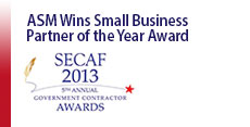 ASM Research Wins SECAF 2013 Small Business Partner of the Year Award